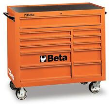 Beta Tools C38O Mobile Roller Cabinet Tool Box 11 Drawers Roll Cab Orange Rollca