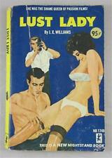 LUST LADY J X WILLIAMS 1965 NIGHTSTAND BOOK CORINTH #NB1749 1ST ED PB SEX FILMS