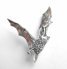 """Long Eared Bat """"Birds, Animals Nature"""" Hand Made in Pewter Lapel Pin Badge"""