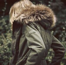 Abercrombie & Fitch by hollister Womens Fur Lined Parka/coat/ jacket Medium