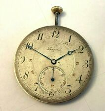 functional 18.79 cal, dial glass pointers 1909 Longines Pocket Watch parts fully