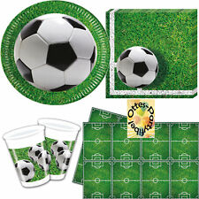 Fußball Football Soccer Partyset 37tlg Teller Becher  Serviette Tischdecke 8 Kin