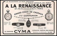 Publicité CYMA  Montres Watch  vintage ad  1926 -1J