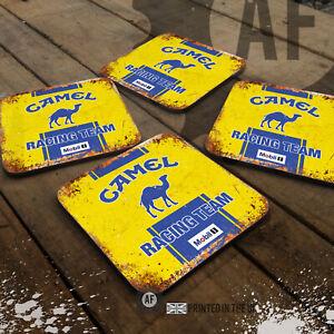 CAMEL Race Team Drinks Coaster Collection Mancave Shed Garage dub Rally F1 Dakar
