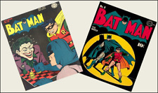 2  Miniature Vintage 'BAT-MAN' comics - Dollhouse  1:12 scale OPENING WITH PAGES