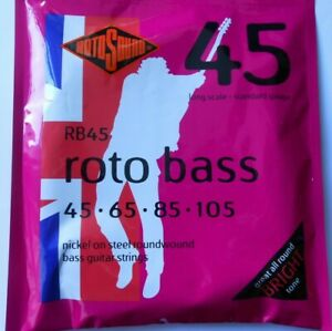 Rotosound RB45 Roto Bass Guitar Strings Nickel Roundwound Long Scale 45 - 105