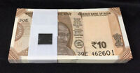 India Rs 10 Rupees NEW 2018 UNC Gandhi resized banknote bundle