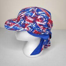 Rare Vintage 80s 90s Head Tog Retro Colorful Reversible Head Wrap Cap Hat Beach