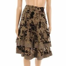 Silk A-line Formal Floral Skirts for Women