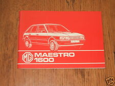MG MAESTRO 1600 LIBRETTO DI USO E MANUTENZIONE, ISTRUZIONI LIBRO - 1983; PUB. NO. SMD 8553.