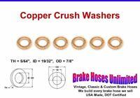 "COPPER CRUSH WASHERS - 19/32"" ID"
