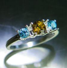 Anelli di lusso con gemme in oro zircone