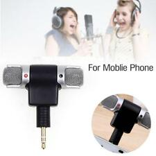 3.5mm Jack Mini External Microphone Mic Stereo Recorder For Samrt Cell Phone