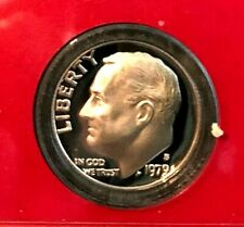 1979 S Type 1 And Type 2 Roosevelt Dime Deep Cameo Gem Proof (2 Coins)