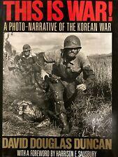 This Is War - Photo Narrative Korean War - David Douglas Duncan - free shipping