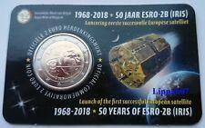 België speciale 2 euro 2018 ESRO-2B (IRIS) satelliet in Coincard Vlaams
