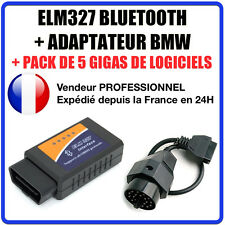 Interface ELM327 BLUETOOTH + ADAPTATEUR BMW 20 PINS - DIAG OBD2 Multimarques