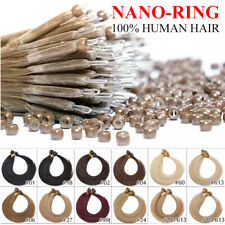 1G/S Nano Ring Tip Micro Loop Beads 100% Russian Remy Human Hair Extensions 200S