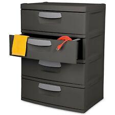 4-Drawer Shelving Storage Dresser Chest Unit Toy Tool Equipment Garage Organizer