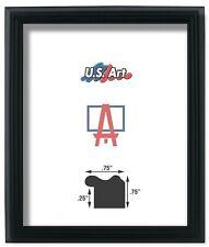 """Us Art Frames .75"""" Black Solid Poplar Wood Picture Poster Frames, 13"""" Sizes"""