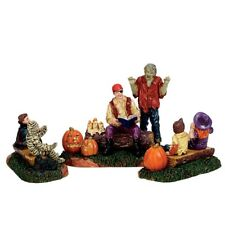 Lemax Spooky Town Storytime Scares #72485 ~ NEW MINT ~ Halloween Village Creepy