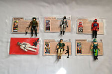 Vintage GI Joe Mail-In Vehicle Driver Figures Set w/ accessories cards 1987
