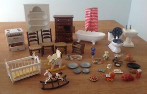 VINTAGE LOT 1950-1970's? Furniture Bathroom Accessories Dollhouse Miniature 1:12