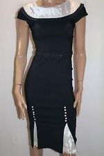 Bettie Page by Tatyana Navy Blue Pin Up Style Pencil Dress Size S BNWT #HG29