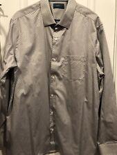 Fairline Mens XL Long Sleeve Dress Shirt Gray and White Stitch Fix NWOT