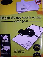 Lot de Pièges à Souris Anti-Rat Rongeur colle glue Professionnel plaque adhésive