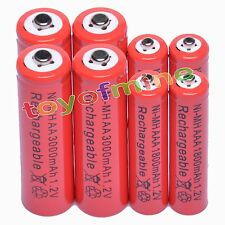 4 Aa 3000 Mah + 4 Aaa 1800mah 1.2 v Ni-mh Batería Recargable De 2a 3a de glóbulos rojos