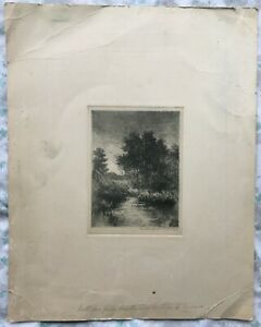 1910 GIFT FROM ARTIST GUSTAVE ADOLPH HOFFMAN & WIFE MARTHA TO ANNE SIGND ARTWORK