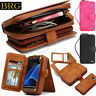Removable Zipper Wallet Card Handbag Leather Purse Case Magnetic Cover Pouch BRG