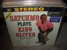 LOUIS ARMSTRONG satchmo plays king oliver  ( jazz ) audio fidelity holland PROMO