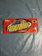 1985Topps Football Grocery Cello Rack Pack 42 cards unopened