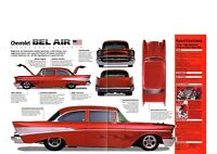 1957 Chevrolet '57 CHEVY BEL AIR SPEC SHEET/ Brochure
