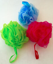 Gentle Exfoliating Soft Loofah 3-Pack Variety... ROCKET FAST SHIPPING!!! H30