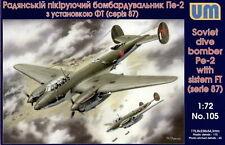 PETLYAKOV Pe-2 FT SERIE 87 (SOVIET AF MKGS)#105 1/72 UNIMODELS/UM EXTREMELY RARE