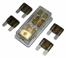 APS MAXI Fuse Holder 3 X 4GA In 2X 8Ga Out Gold Plated Free 4PCS 70A Fuse