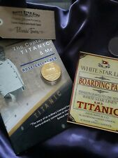 Captain Smith Titanic White star line gold plated coin provenance christmas xmas