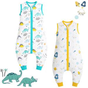 Baby Schlafsäcke Sommer mit Beinen 0.5 Tog Kinder Sommerschlafsack mit Beinen-DE