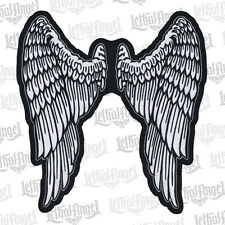 Lethal Threat Motorcycle Bike Jacket Embroidered Patch Angel Wings XL LT30159