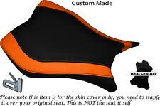 Diseño 2 Naranja & Negro Custom encaja Honda Cbr 1000 Rr 13-15 delantera cubierta de asiento