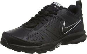 Nike T-Lite XI Herren Hallenschuhe, Schwarz (Black-Metallic Silver 007) 43EU