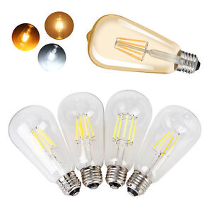 Dimmable Edison LED Bulbs E26 ST64 4W 6W 8W 10W Decor Lighting Pendant Lamp 110V