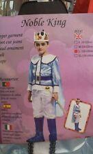 Vestito Costume Principe Azzurro Bambino Carnevale Cosplay Bimbo Noble King