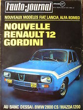 L'AUTO JOURNAL 1970 13 BMW 2800CS MAZDA 1200 R12 GORDINI GP BELGIQUE GP HOLLANDE