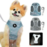 Small Dog Harness and Lead set Mesh Reflective Pet Puppy Cat Walking Jacket Vest
