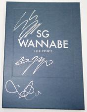 SG WANNABE - The Voice (Mini Album) CD+Photobook ALL MEMBER's AUTOGRAPHED CD