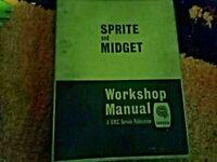 Sprite / Midget Workshop Manual Looseleaf Folder AKD4021B 1965 Issue 3 Official